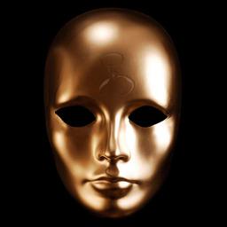 antica maschera d'oro