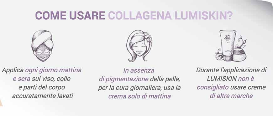 come usare collagena lumiskin : istruzioni e avvertenze