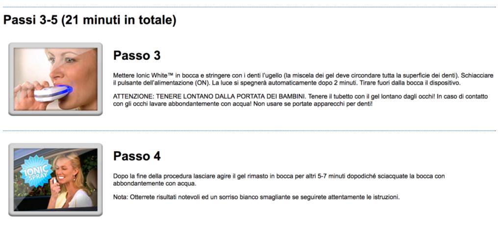 UTILIZZO ionic white passo 3 e 4