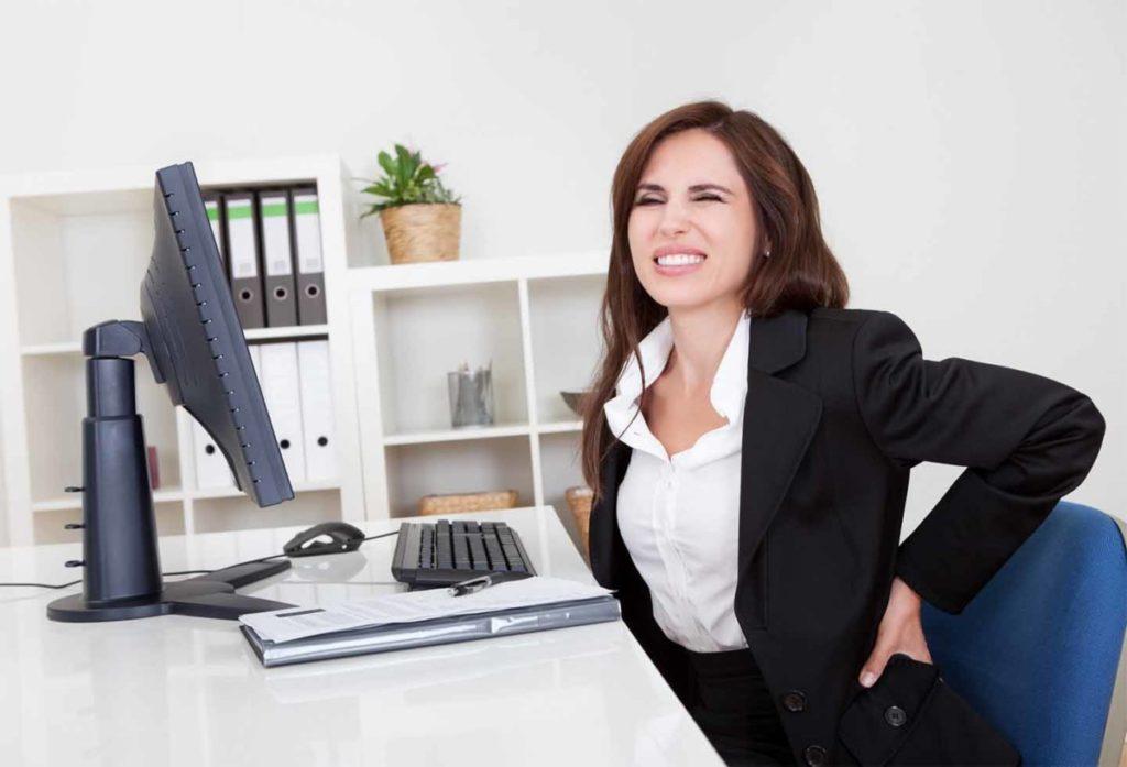 donna mal di schiena posturale trattato con osteoren gel