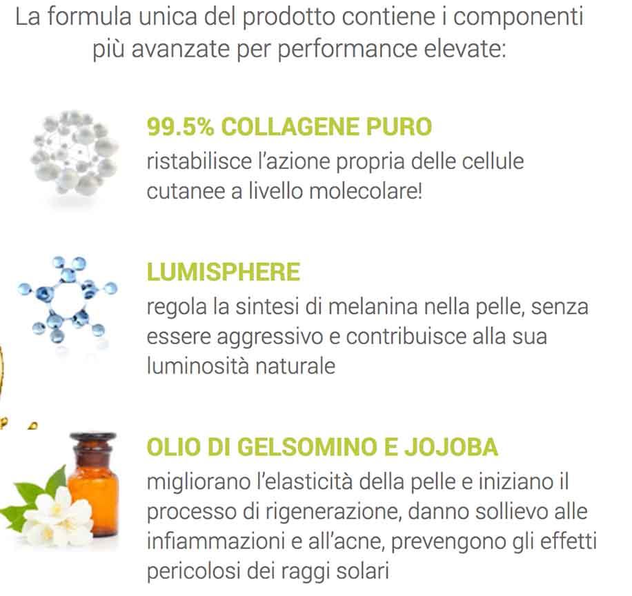 Composizione cream Lumiskin dal sito ufficiale
