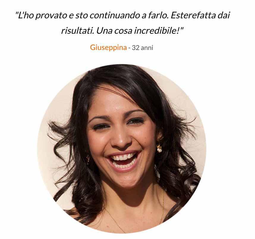 Giuseppina testimonianza Senomax