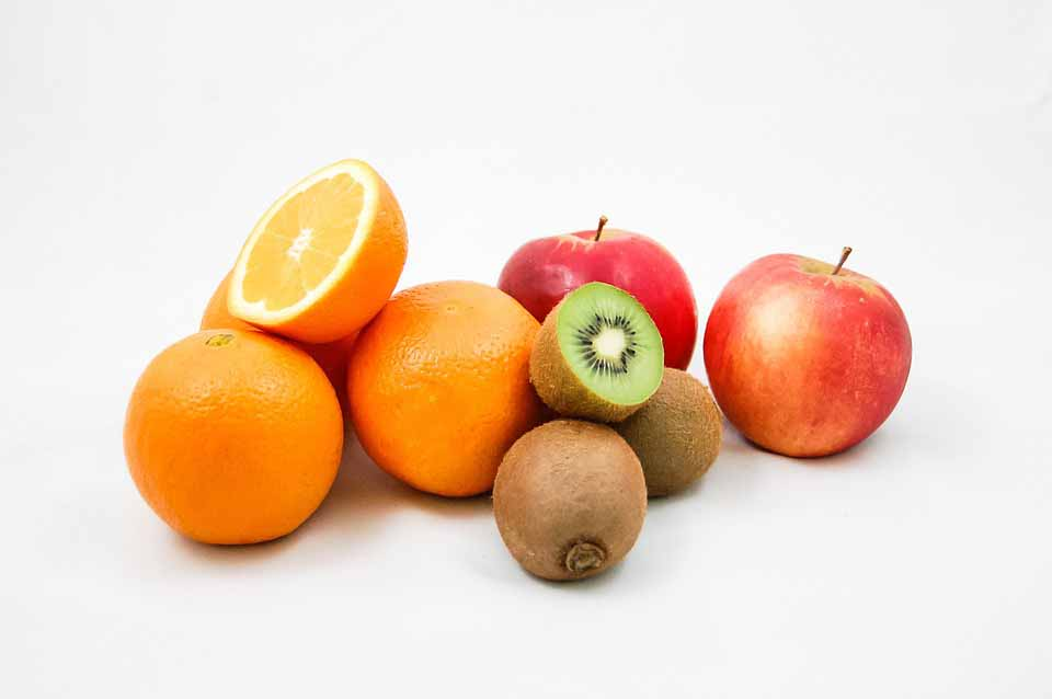arance, mele, kiwei