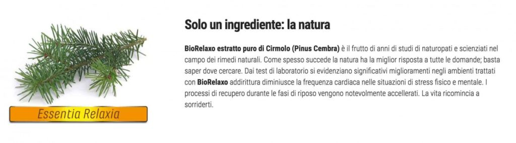 ingredienti bio relaxo