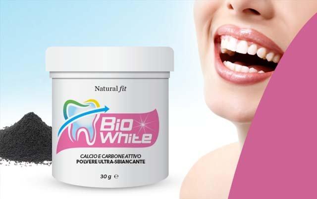 BIOWHITE sbiancante denti della Naturalfit: le opinioni di chi l'ha provato