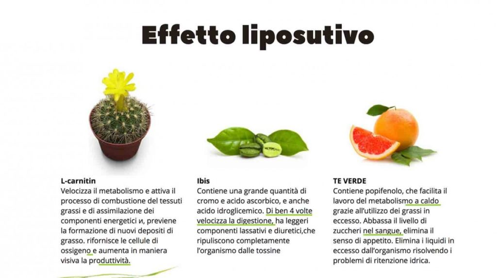 effetto liposolutivo one two slim