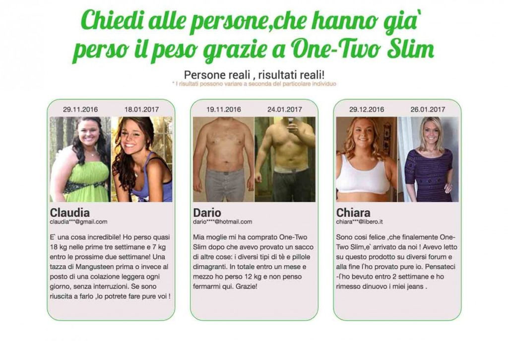 Opinioni one two slim