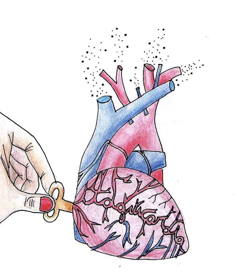 disegno di cuore tachicardia