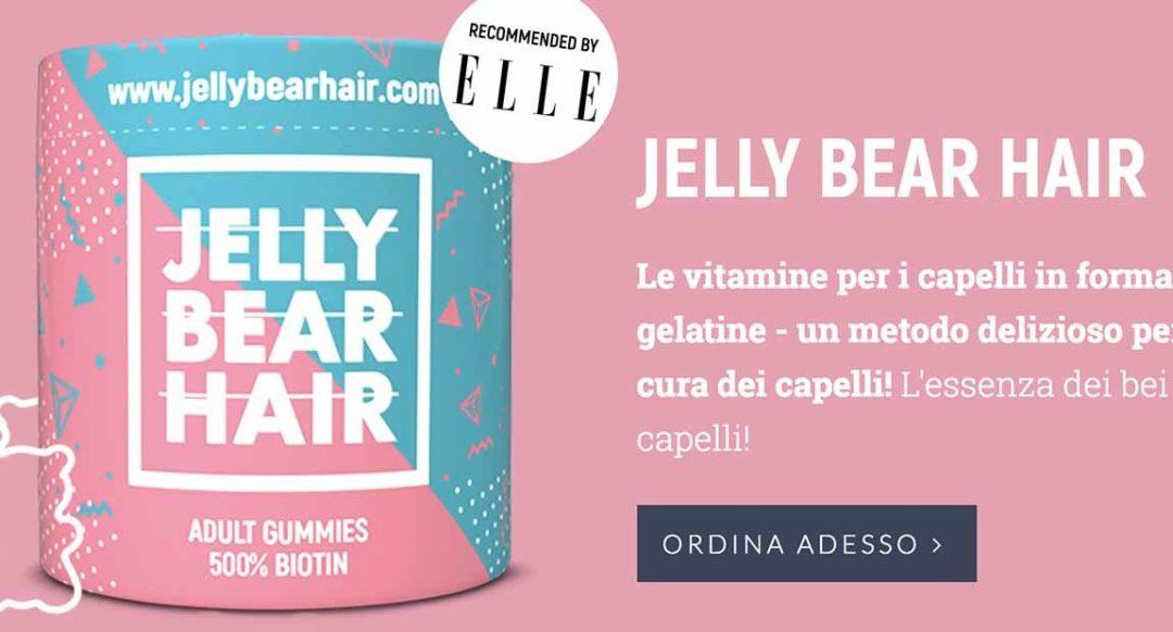 Jelly Bear Hair , integratore di vitamine per capelli in forma