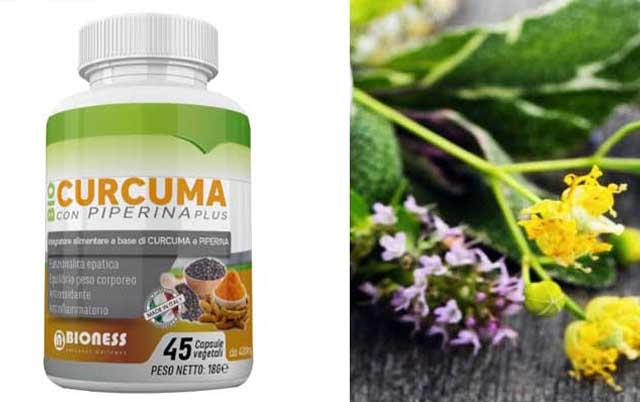 BioCurcuma e Piperina Plus di Bioness: fa dimagrire ? Recensioni e costo