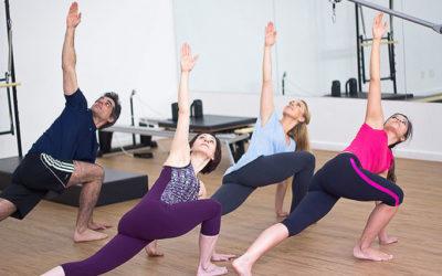 Pilates esercizi in sala