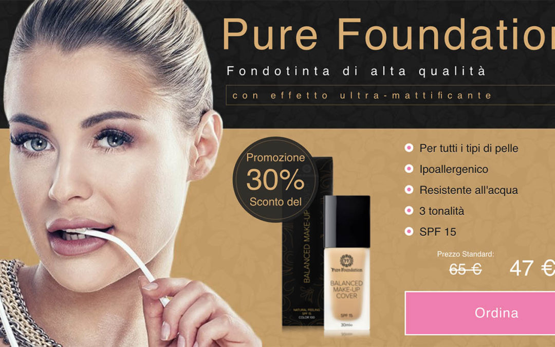 Pure foundation il fondotinta ipoallergenico di qualità! Opinioni recensioni e dove comprarlo