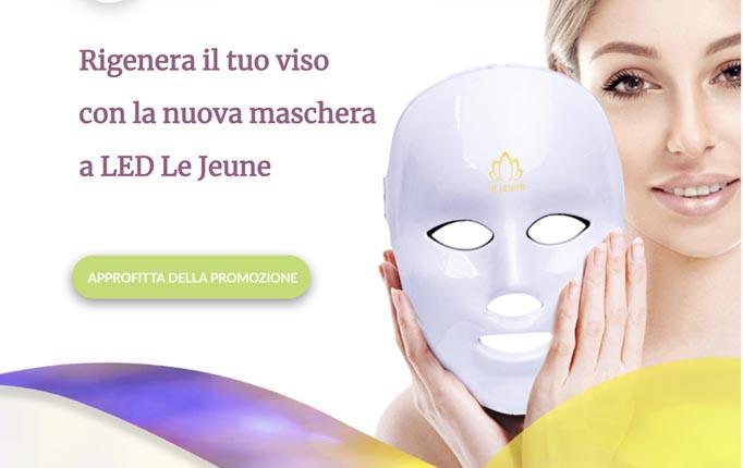 Maschera Led Viso Le Jeune anti age . Costo e recensioni