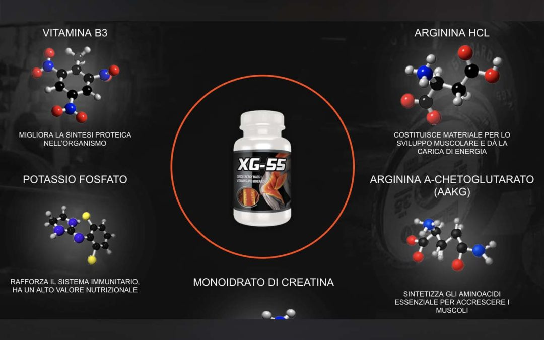 XG-55 integratore in capsule per aumentare la massa muscolare. Dove trovarlo al miglior prezzo.