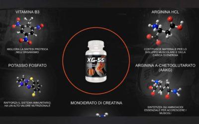 integratore massa muscolare xg-55