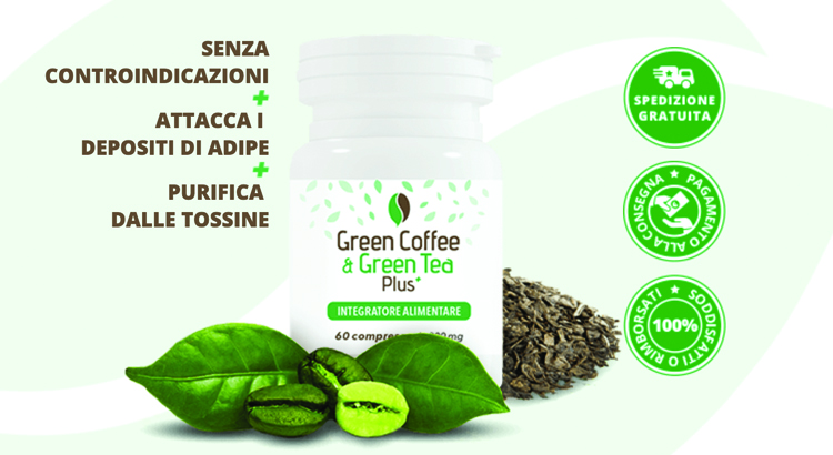 caffè verde e thè verde plus