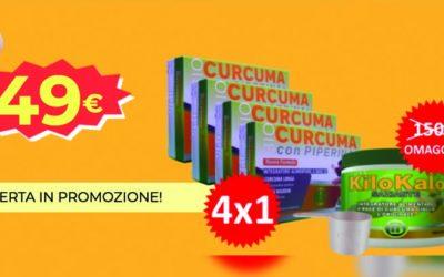 Piperina e Curcuma 4x1 più KiloKalo saziante, offerta. Recensione e costo