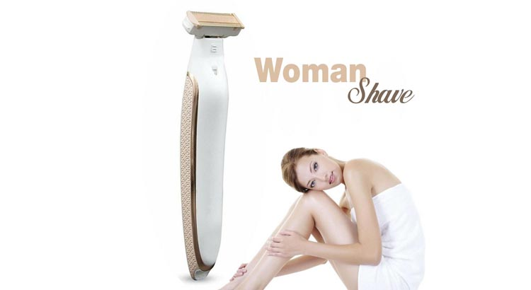 woman shave epilatore