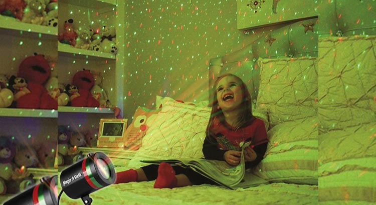 Magia di Stelle il faretto laser per il tuo spettacolo di luci. Ottimo per interno ed esterno.