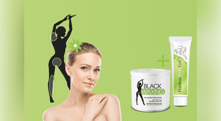 hairless body gel e black waxing